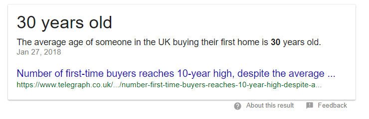 average age of a home buyer in the UK